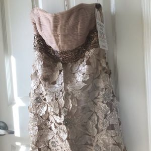 XS Sue Wong Pink champagne strapless w/ TAGS New